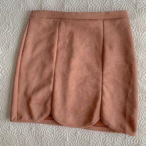 BNWOT! Charlotte Russe micro suede tulip skirt!